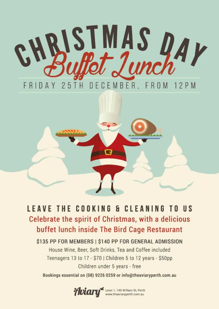 Christmas day lunch and party ideas for Perth | ChristmasDay.net.au