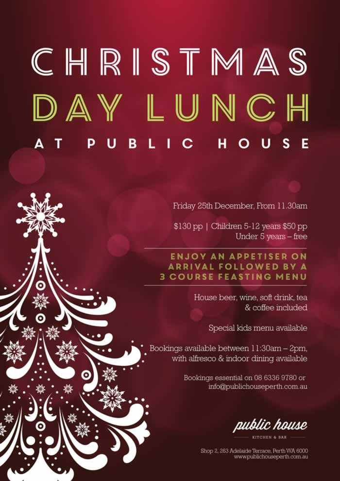 christmas day lunch and party ideas for perth