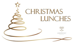 Christmas Lunch Menu at the Conservatory Restaurant