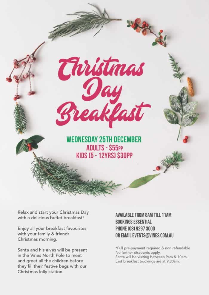 Christmas Vines.Christmas Day Lunch And Party Ideas For Perth Christmasday